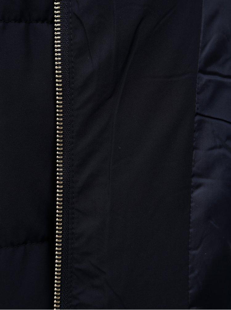 Tmavě modrá krátká zimní bunda Jacqueline de Yong