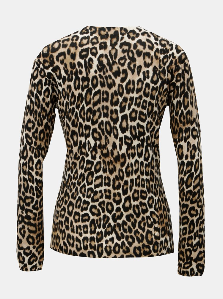 Černo-hnědý leopardí svetr Dorothy Perkins