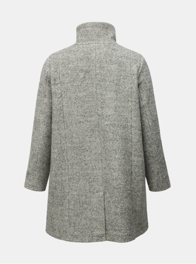 Svetlosivý zimný kabát s prímesou vlny Zizzi