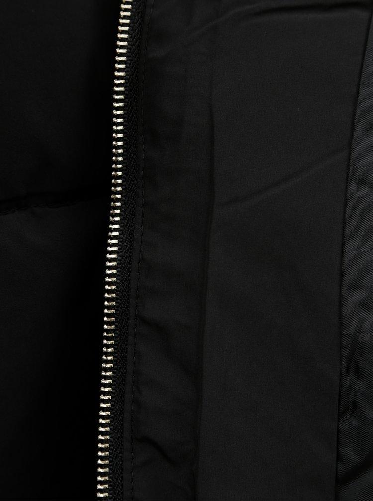 Čierna krátka zimná bunda Jacqueline de Yong