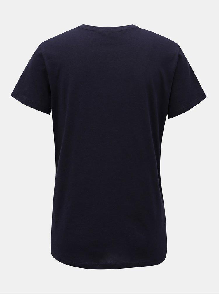 Tmavomodré tričko s aplikáciou VERO MODA