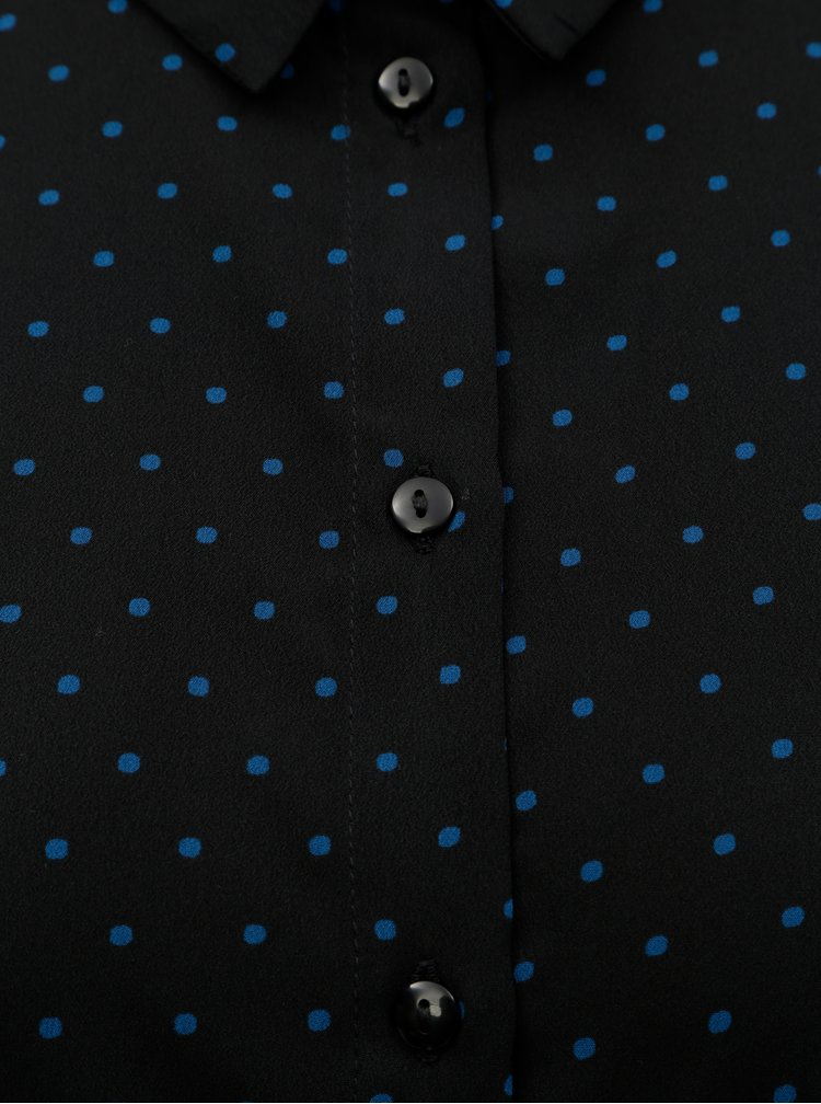 Černá puntíkovaná košile VERO MODA
