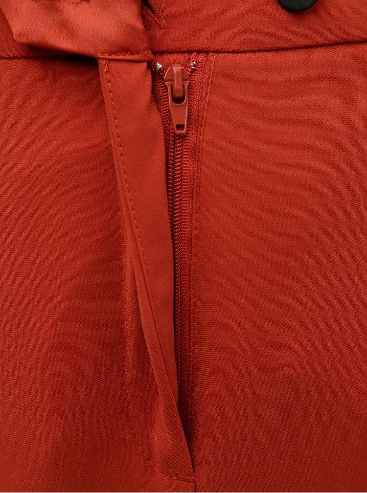Pantaloni scurti caramizii cu talie inalta VERO MODA