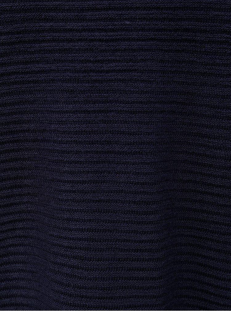 Pulover albastru deschis cu striatii si guler inalt Jacqueline de Yong