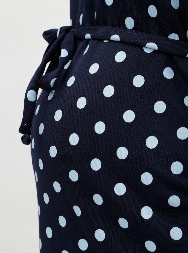 Rochie albastru deschis cu buline pentru femei insarcinate Mama.licious Blackie