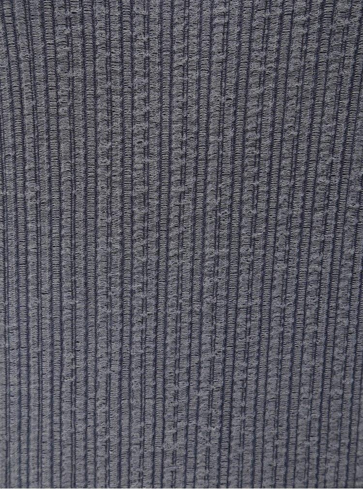 Sivé midišaty so stojačikom Jacqueline de Yong