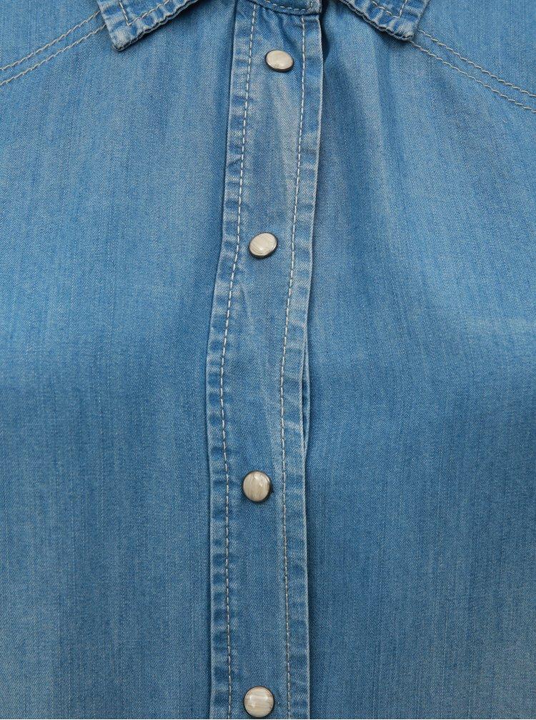 Modré košilové šaty Zizzi