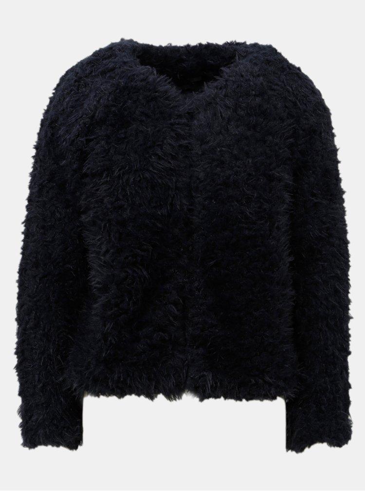 Tmavě modrý krátký kabát Jacqueline de Yong