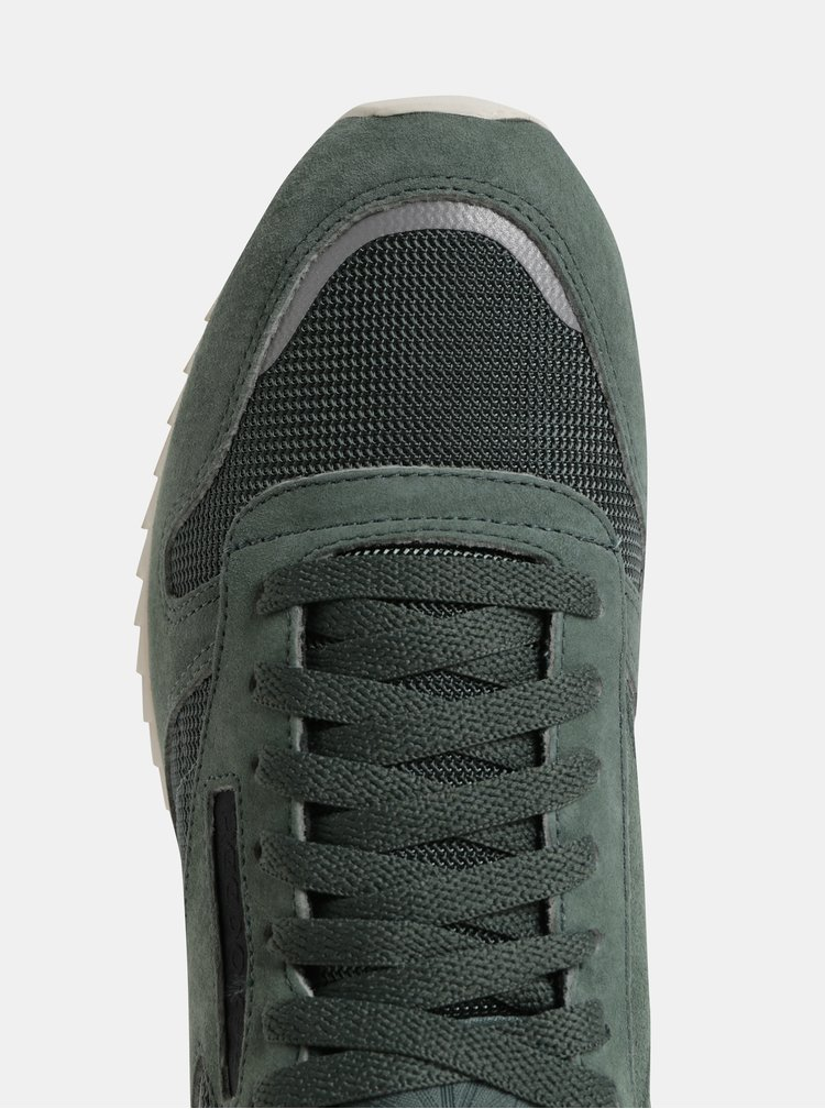 Zelené pánské semišové tenisky Reebok