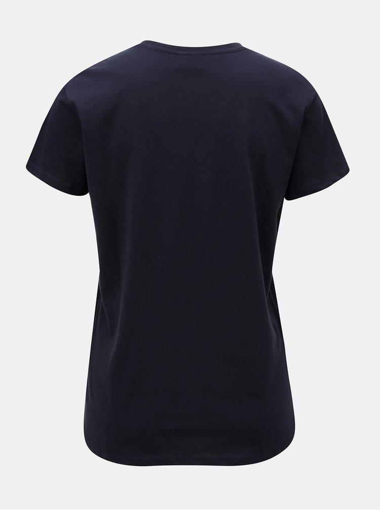 Tmavě modré tričko s potiskem Jacqueline de Yong