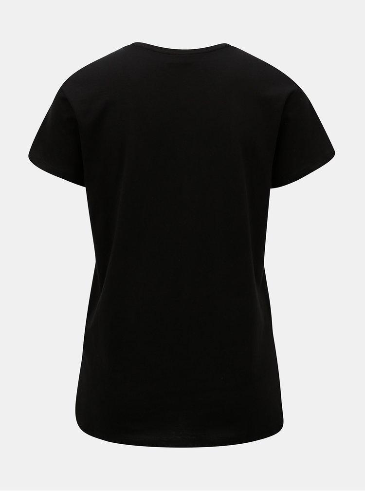 Černé tričko s potiskem Jacqueline de Yong School