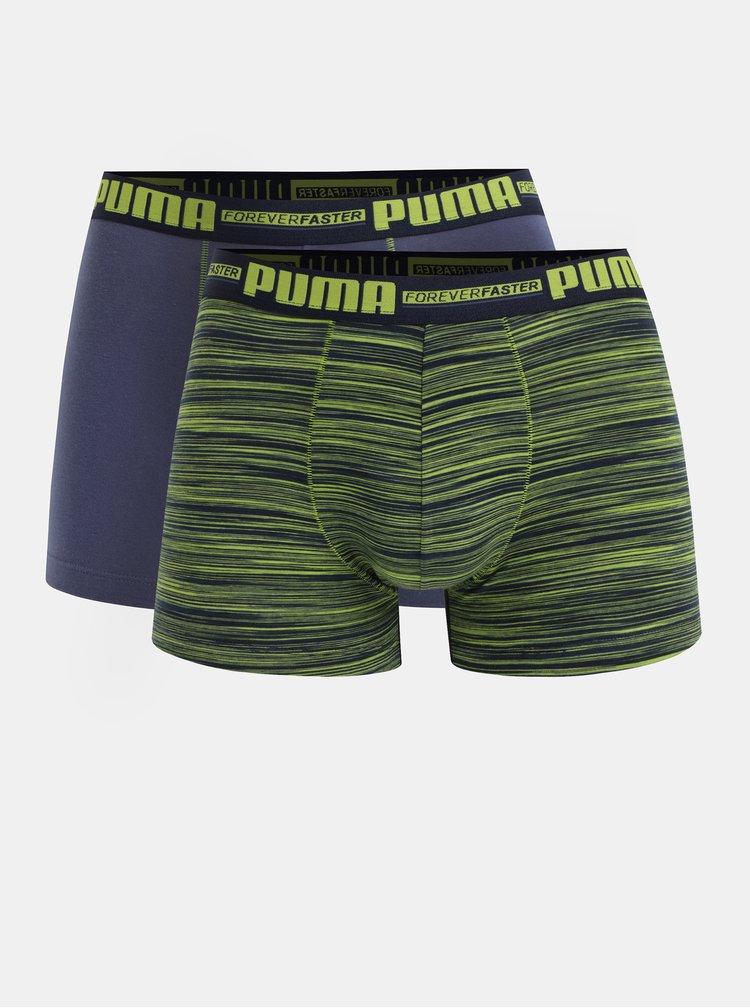 Sada dvou boxerek v zeleno-modré barvě Puma