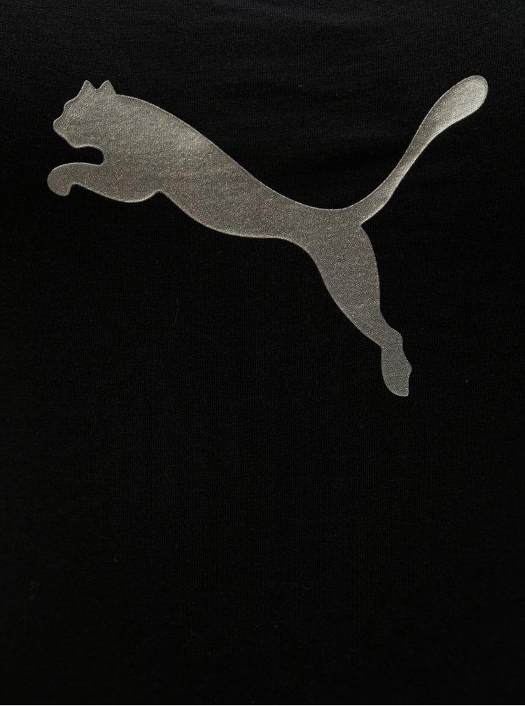 Černé body s potiskem a širokými ramínky Puma Iconic