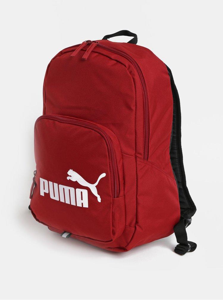 Rucsac rosu cu print Puma 21 l