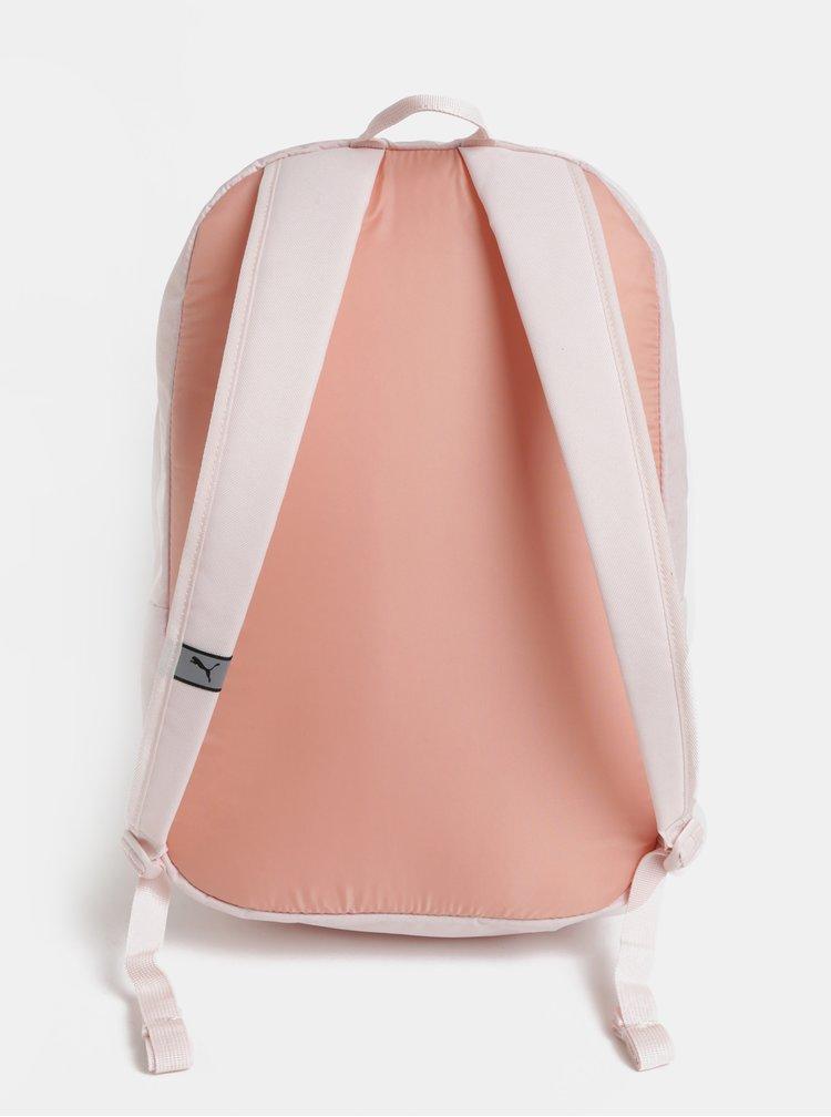 Světle růžový batoh s potiskem Puma 21 l