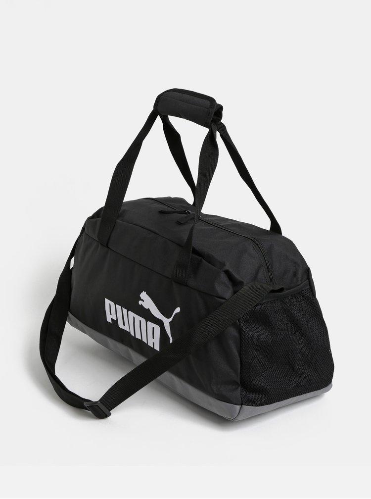 Černá sportovní taška s potiskem Puma