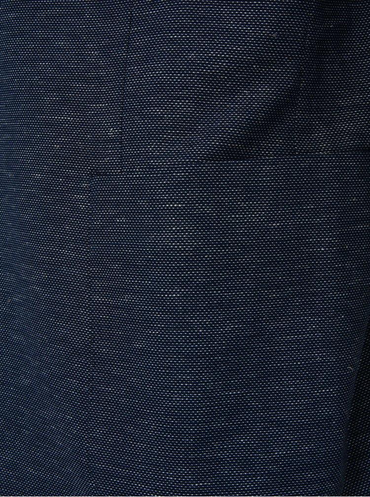 Bielo-modré vzorované sako s prímesou ľanu Selected Homme One Venice