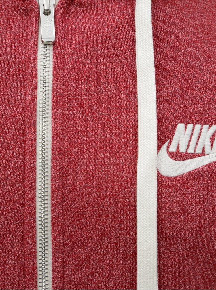 Červená pánska melírovaná mikina Nike Heritage