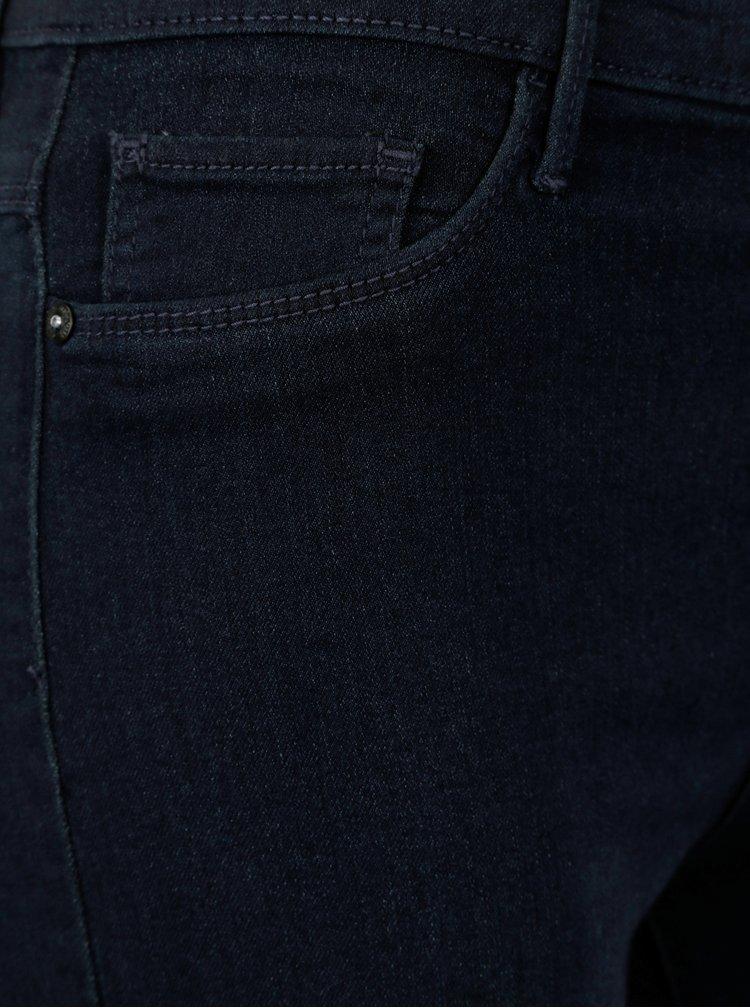 Tmavě modré džínové kraťasy s vysokým pasem ONLY Rain