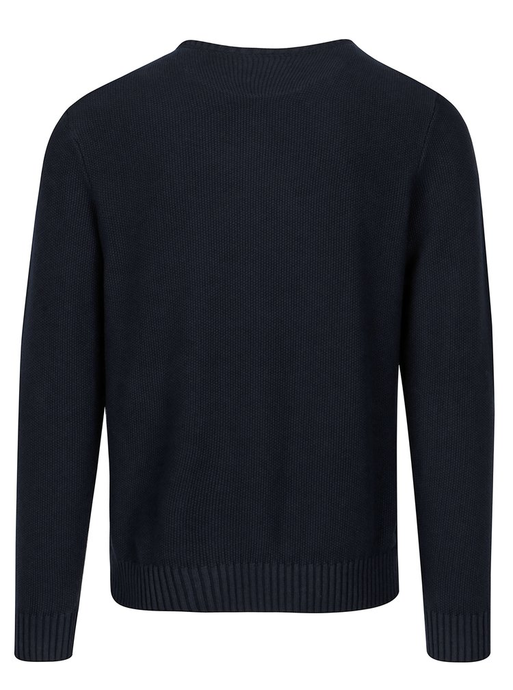 Pulover bleumarin cu model discret - Casual Friday by Blend