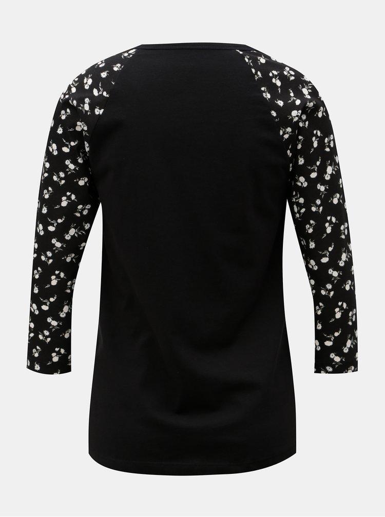 Černé dámské tričko s 3/4 rukávem VANS
