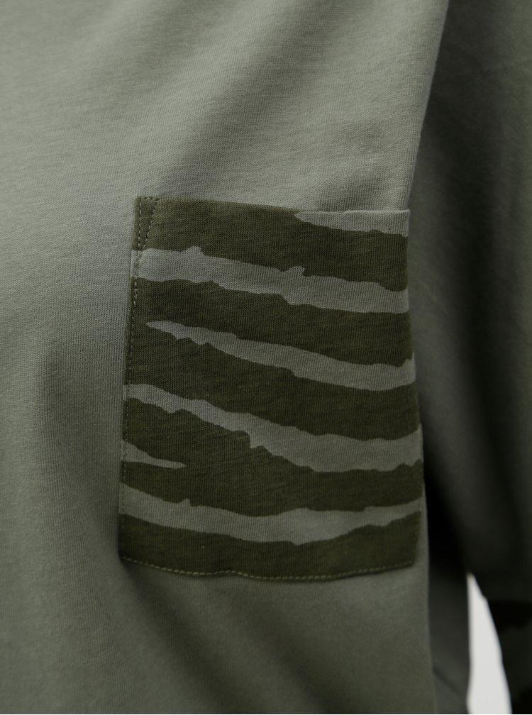 Tmavě zelené dámské oversize tričko BUSHMAN Miranda II