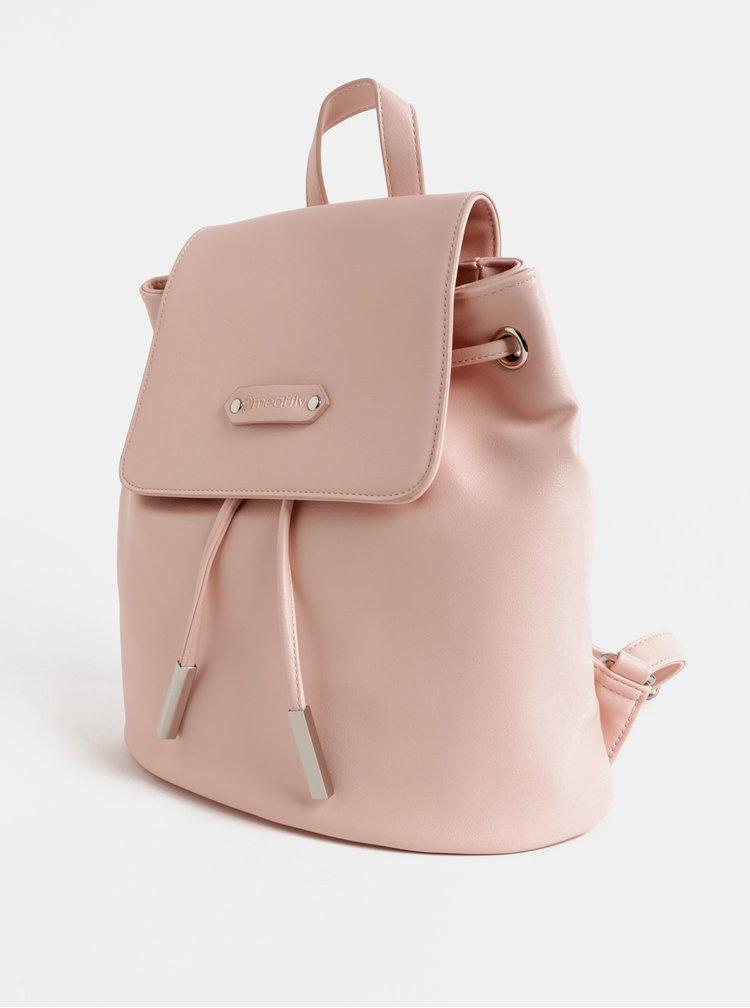 Světle růžový dámský vakový batoh Meatfly