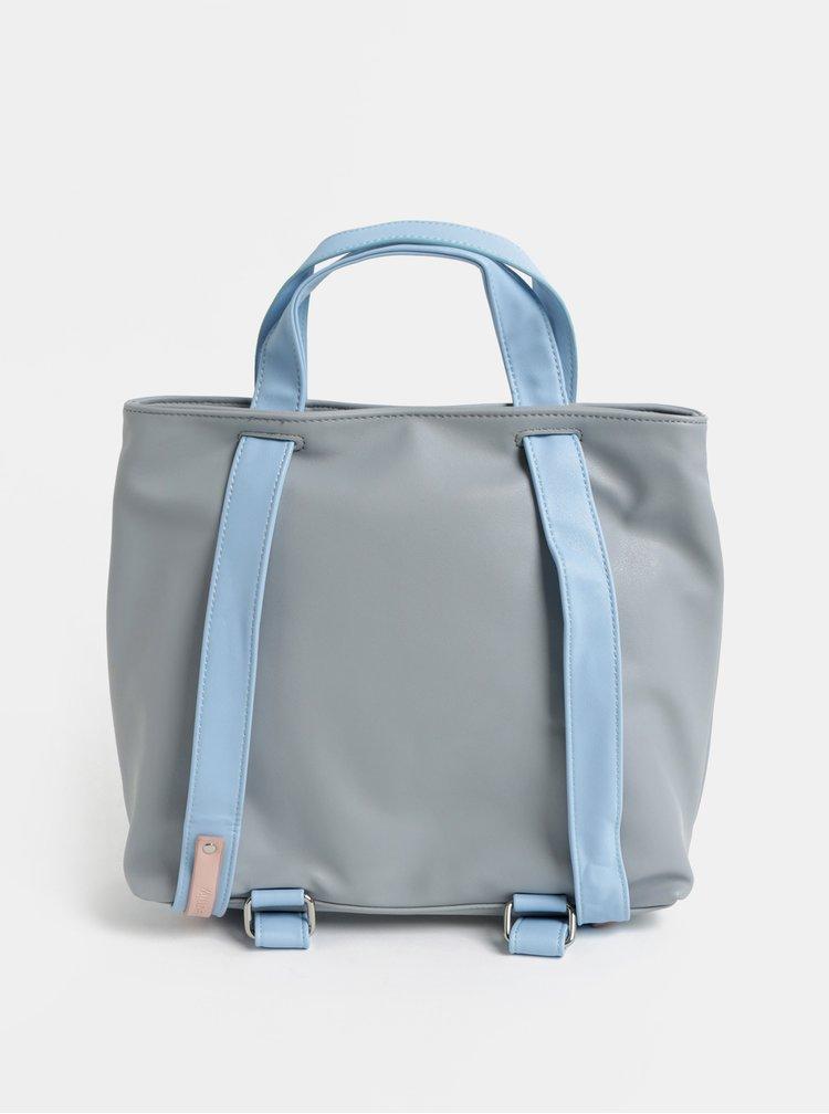 Modro-šedá dámská kabelka/batoh Meatfly
