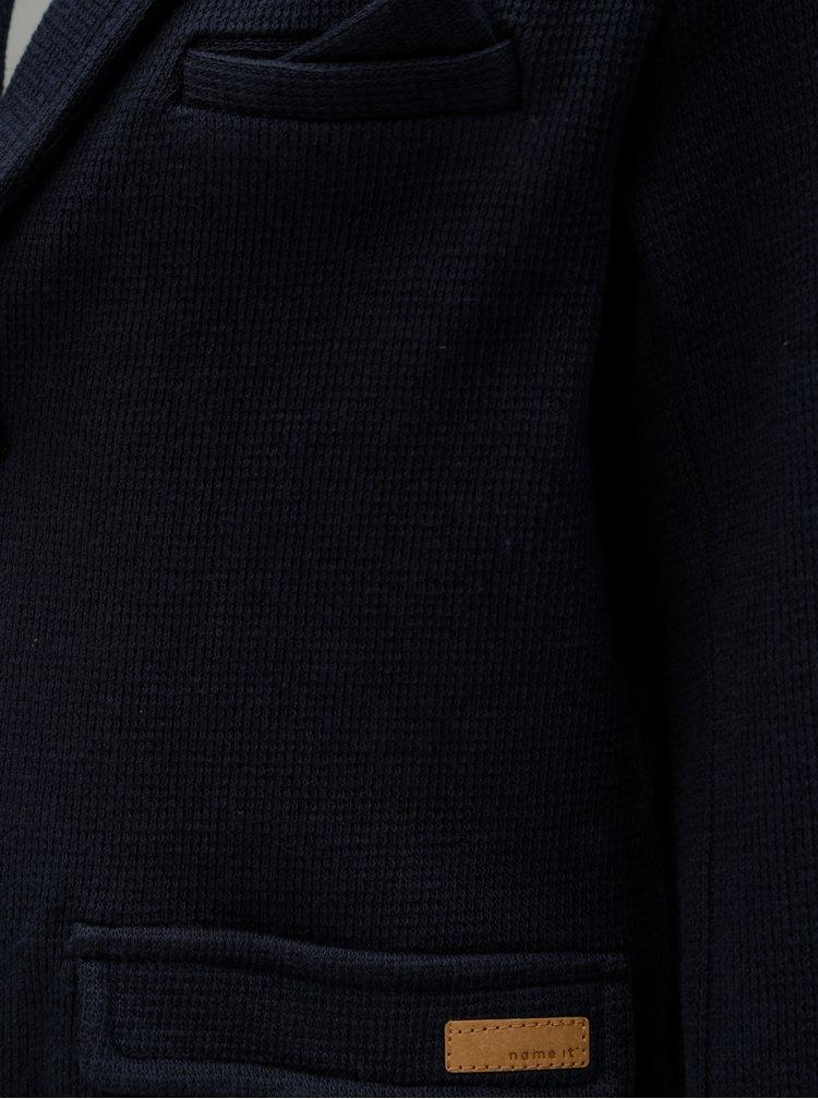 Modré klučičí mikinové sako Name it Modja