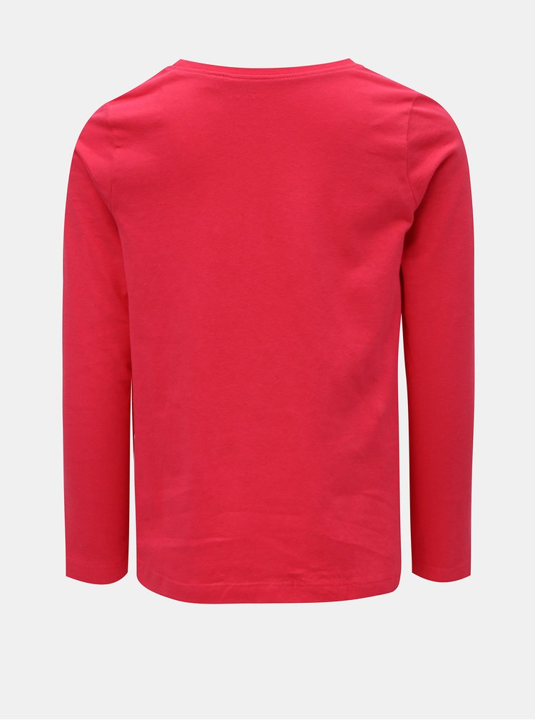 Růžové holčičí tričko s potiskem Name it Violet