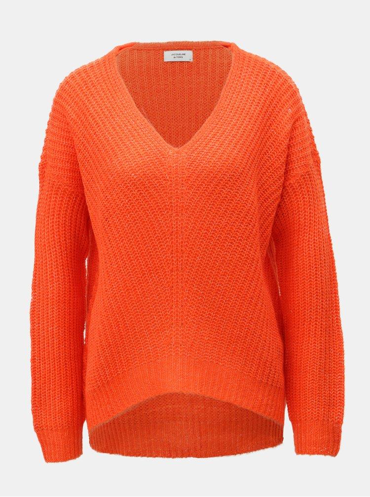 Červený pletený svetr Jacqueline de Yong Megan
