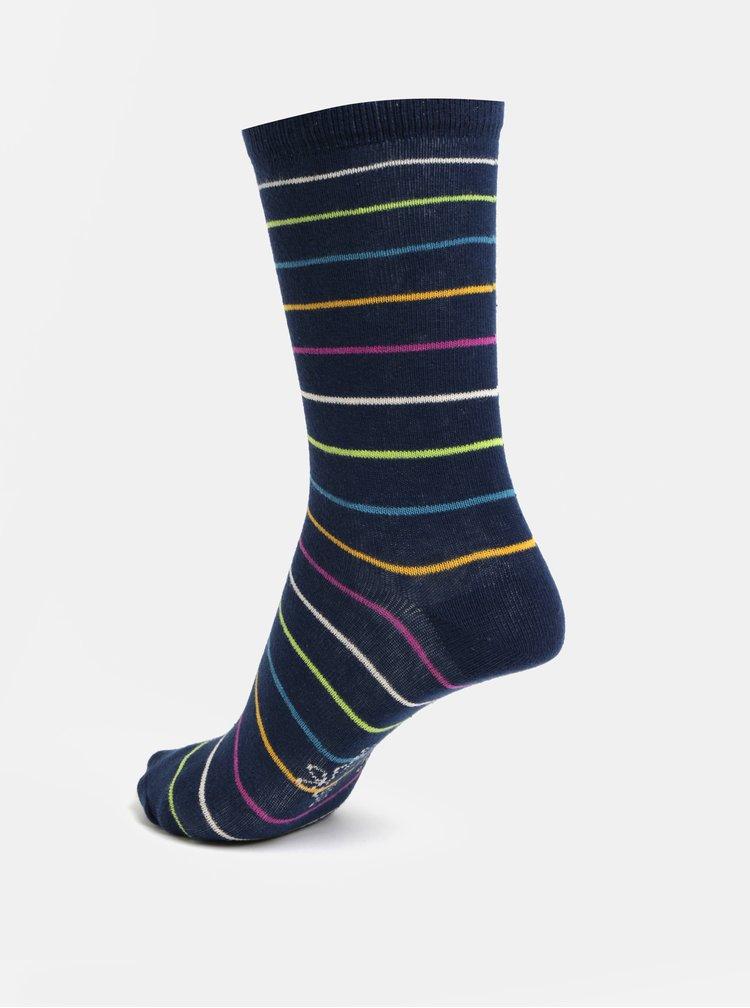 Sada tří párů holčičích ponožek v modré a fialové barvě BÓBOLI