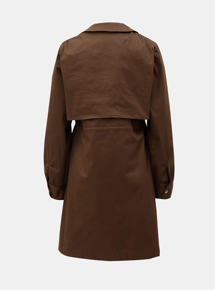 Hnědý lehký kabát ELVI