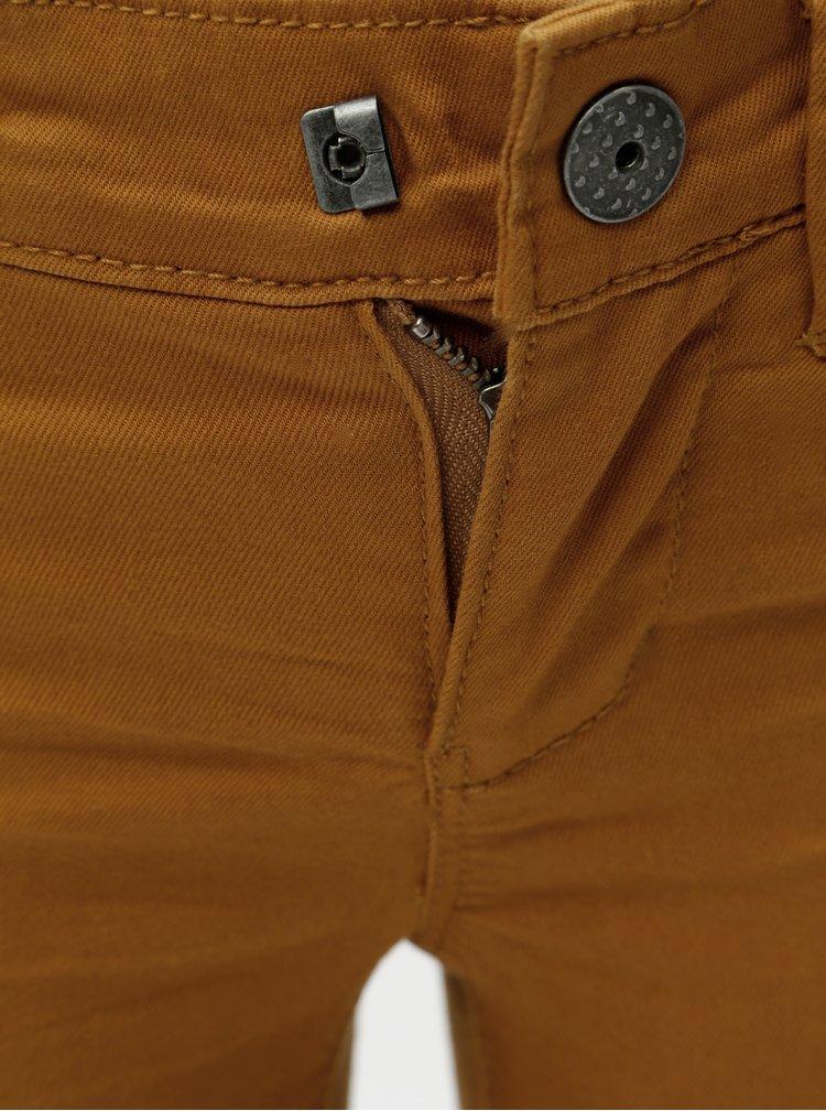 Hnědé holčičí skinny džíny s výšivkou Name it Polly