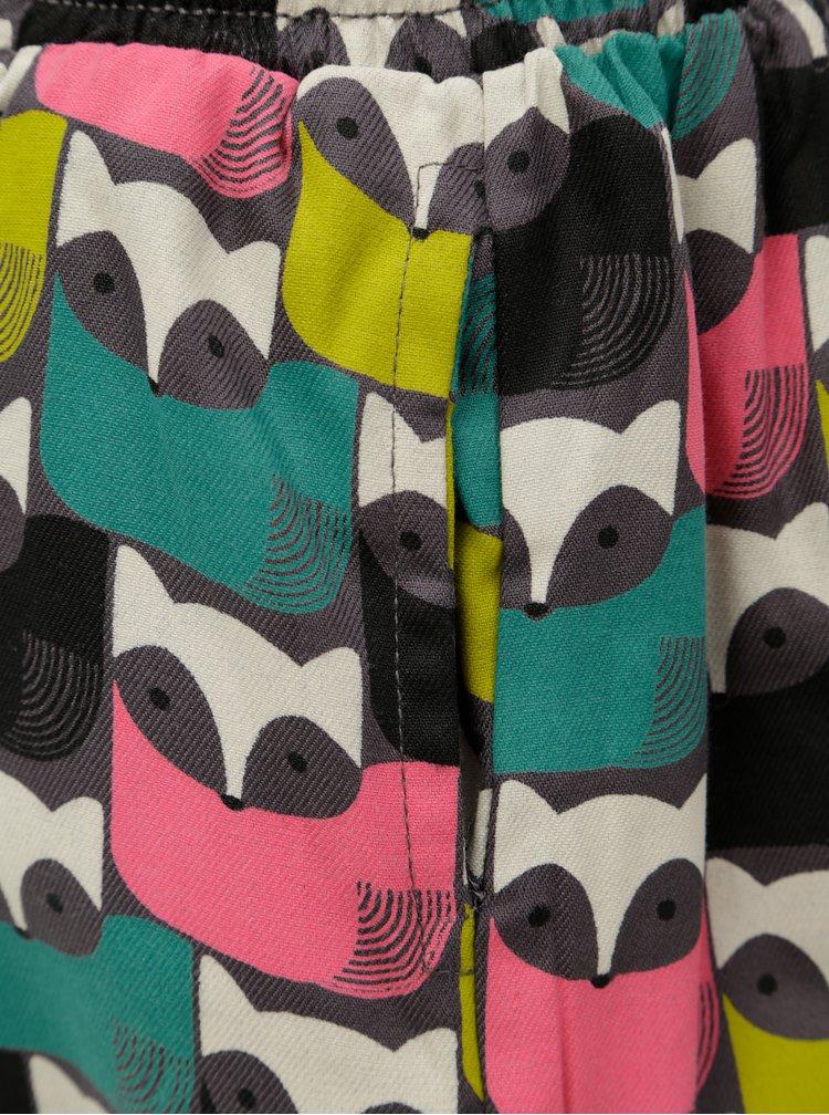 Béžovo-šedá vzorovaná oboustranná sukně BÓBOLI