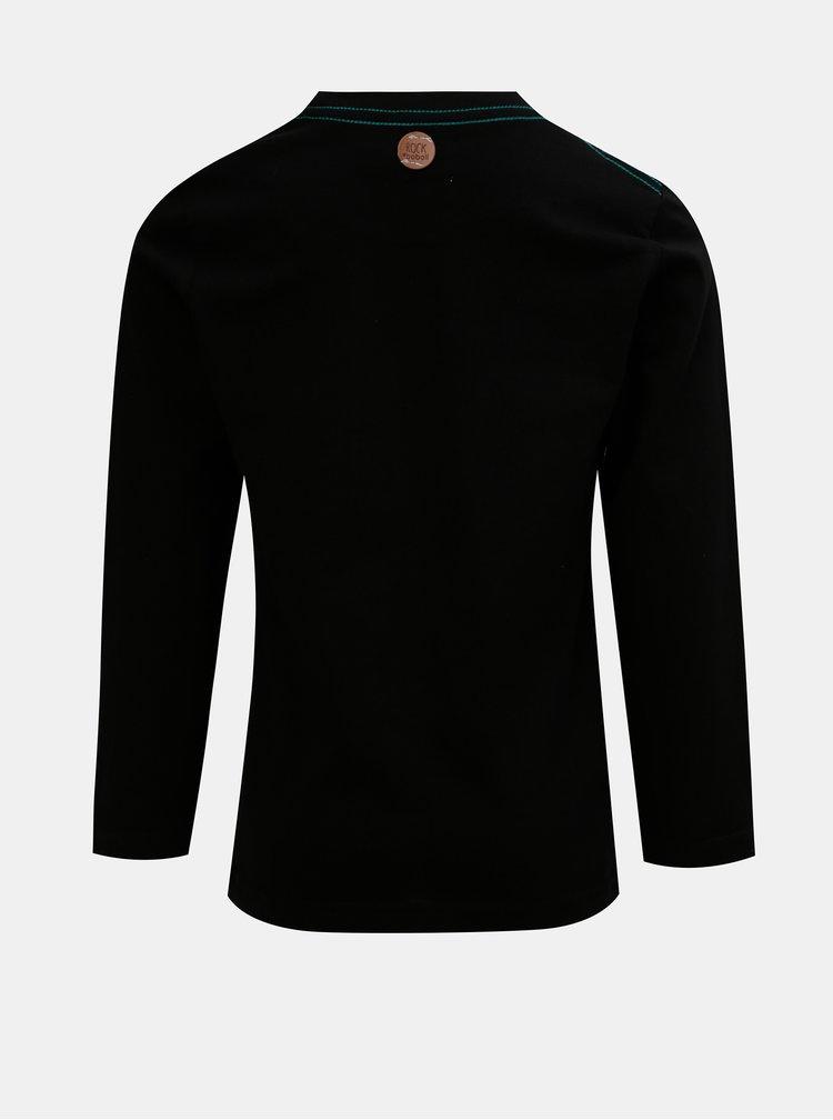 Černé klučičí tričko s potiskem BÓBOLI