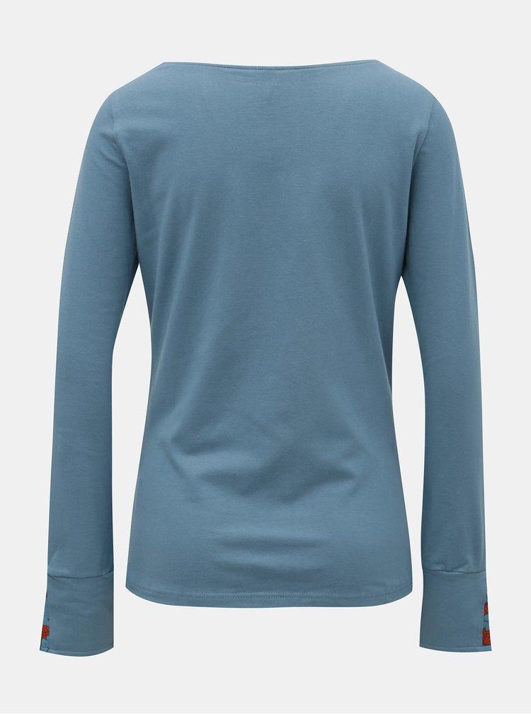 Tricou albastru cu maneci lungi Tranquillo Mia