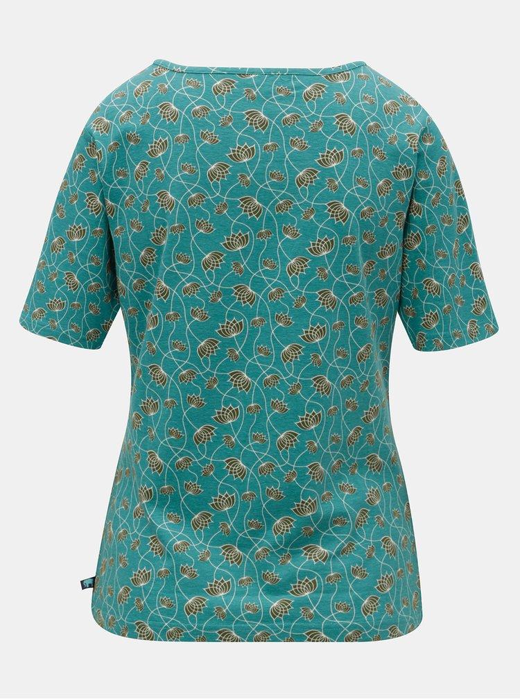 Tyrkysové vzorované tričko Tranquillo Indrani