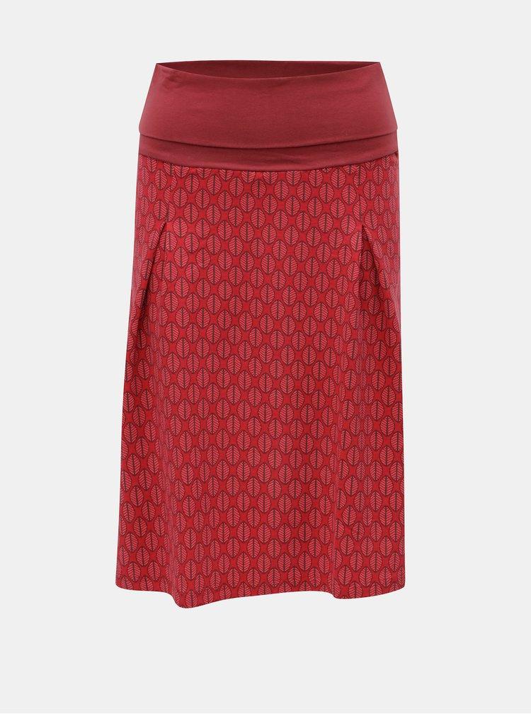 Červená vzorovaná sukňa Tranquillo Carman