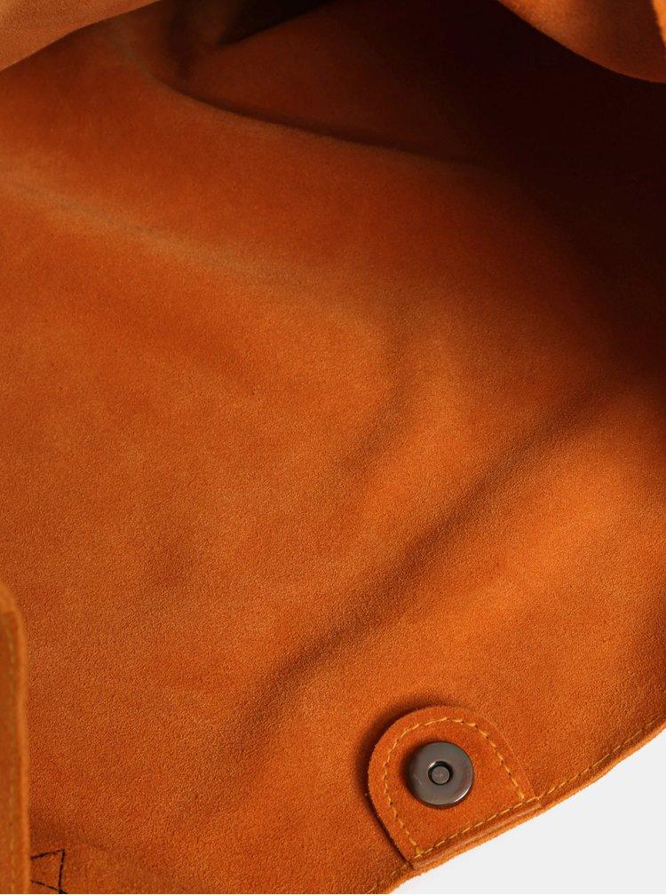 Oranžový semišový shopper WOOX