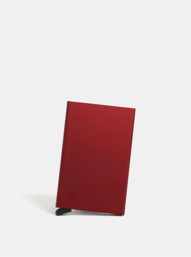 Vínové hliníkové puzdro na karty s RFID tienením Secrid Cardprotector