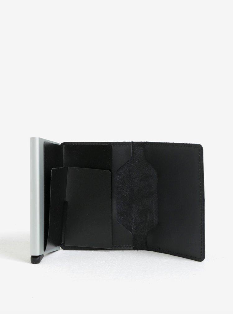 Černá kožená peněženka s hliníkovým pouzdrem s RFID Secrid Slimwallet