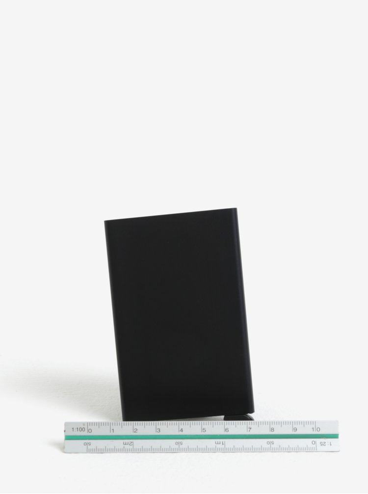 Černé hliníkové pouzdro na karty s RFID krytím Secrid Cardprotector