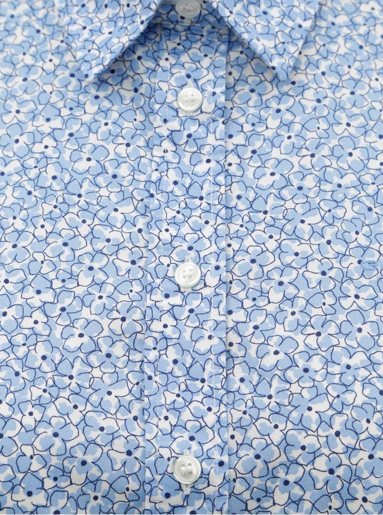Světle modrá dámská květovaná košile GANT