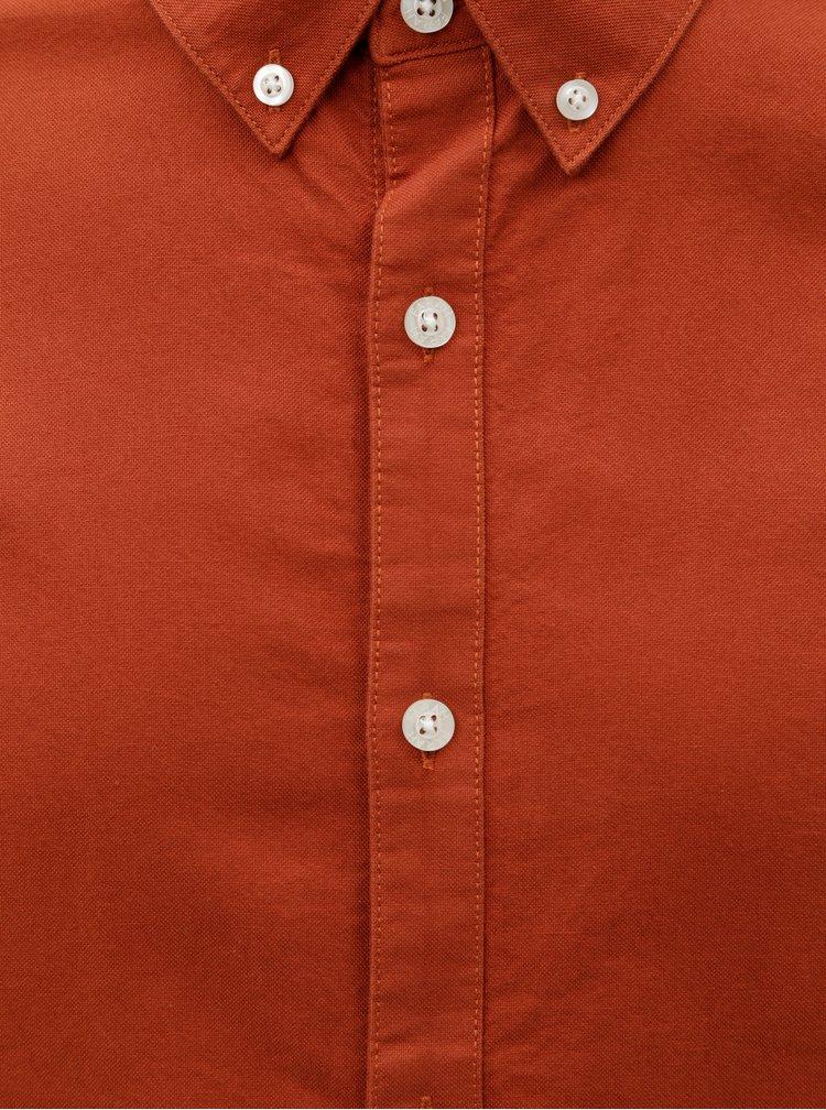 Hnědá pánská slim fit košile Farah
