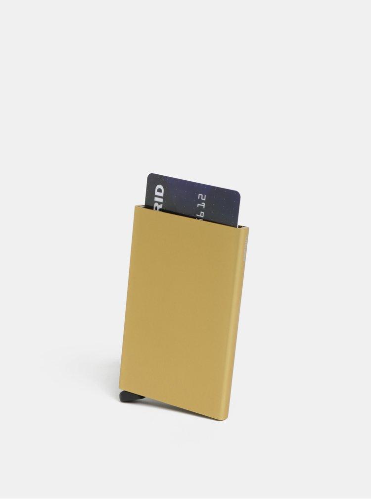 Hliníkové pouzdro na karty ve zlaté barvě s RFID krytím Secrid Cardprotector