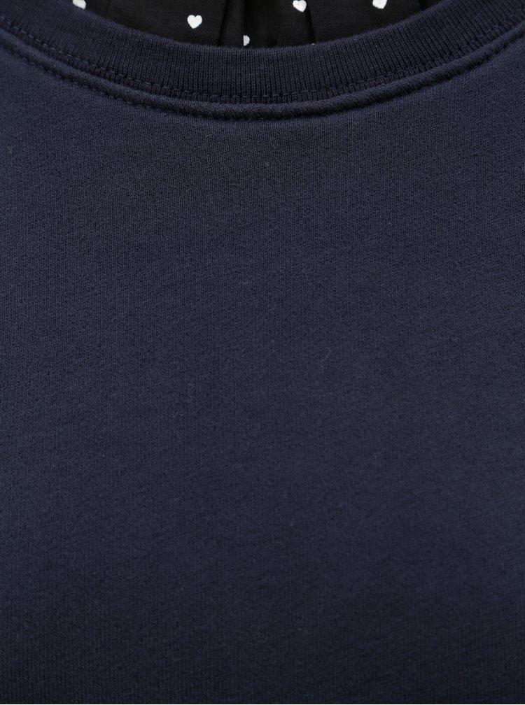 Rochie albastru inchis  sport cu guler inalt Scotch & Soda
