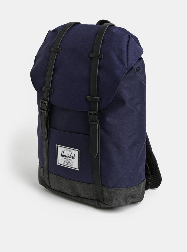 Černo-modrý batoh Herschel Retreat 19,5 l