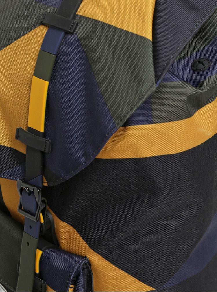 Rucsac mustar-negru cu model Herschel Little America 25 l