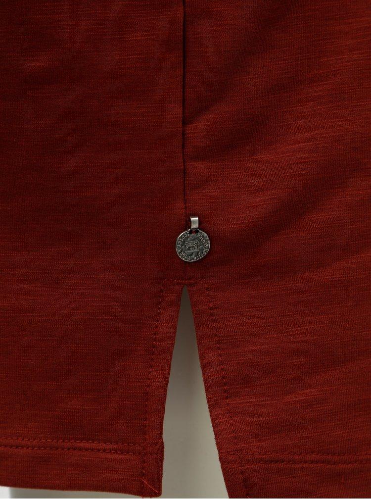 Cihlové mikinové šaty Scotch & Soda